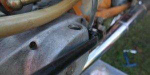 RESTAURATION Schritt 15: erster Motor-Testlauf und Getriebe spülen
