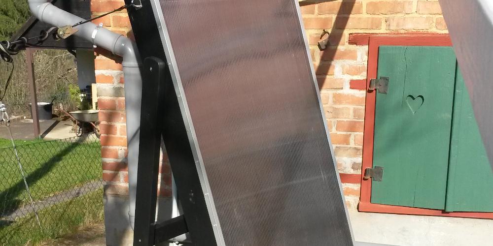 DIY – Solarluftkollektor – günstige Heizung fürs Gartenhaus
